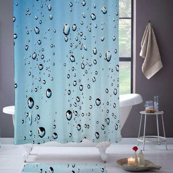 Lifestyles By Ramco Rain Drop Shower Curtain