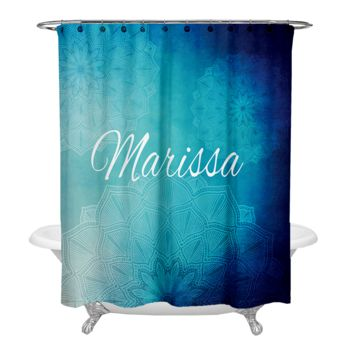 NEW!!! Delicate Mandala Personalized Photo Shower Curtain Thumbnail
