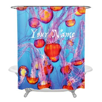 NEW!!! Jelly Fish Fields Personalized Photo Shower Curtain Thumbnail