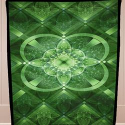 St. Patrick's Day Celtic Green Shamrock Fleece Blanket!!! Thumbnail