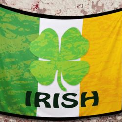 St. Patrick's Irish Flag Fleece Blanket!!! Thumbnail