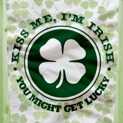 St. Patrick's Irish Kiss Me Im Irish Fleece Blanket!!! Thumbnail