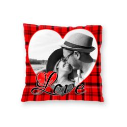 NEW!! Personalized Heart Photo Throw Pillow (Microfiber, Fleece, or Polypoplin) Thumbnail