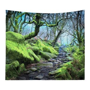 Personalized Photo Collage Forest  Microfiber Wall Tapestry  - 60