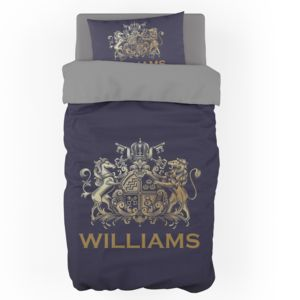 Personalized Crest Duvet Cover - Twin (Pillowcase Sold Separately) Thumbnail
