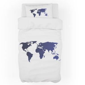 Personalized World Map Duvet Cover - Twin (Pillowcase Sold Separately) Thumbnail