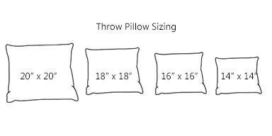 Pillow Sizes For Sofa Throw Pillow Sizes Google Search